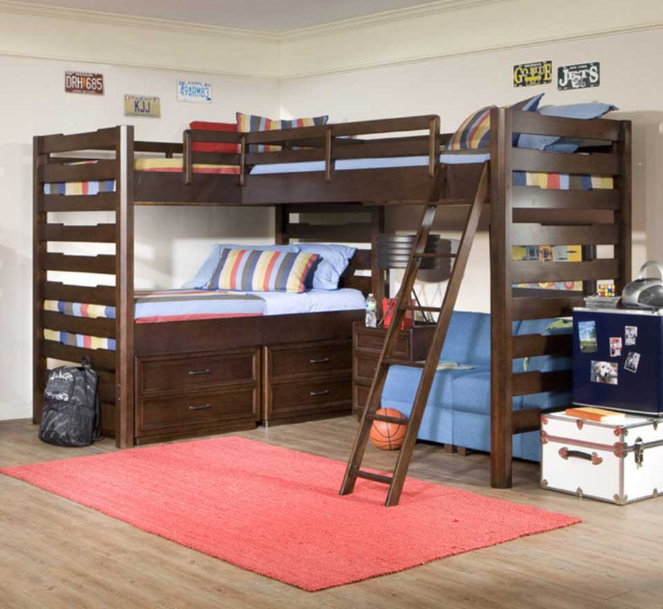 Awesome Bunk Beds L Shaped