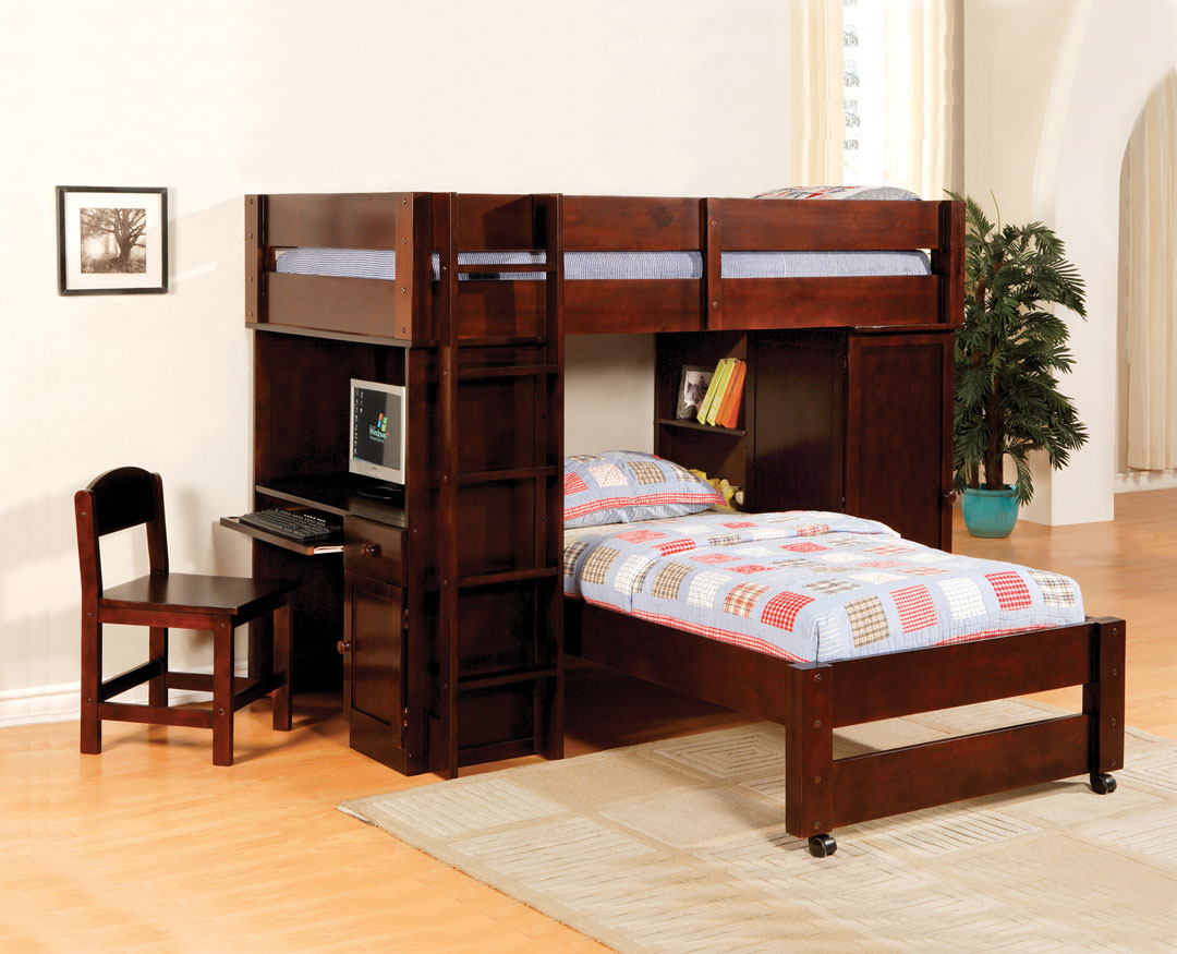 Brown Cherry Bunk Beds