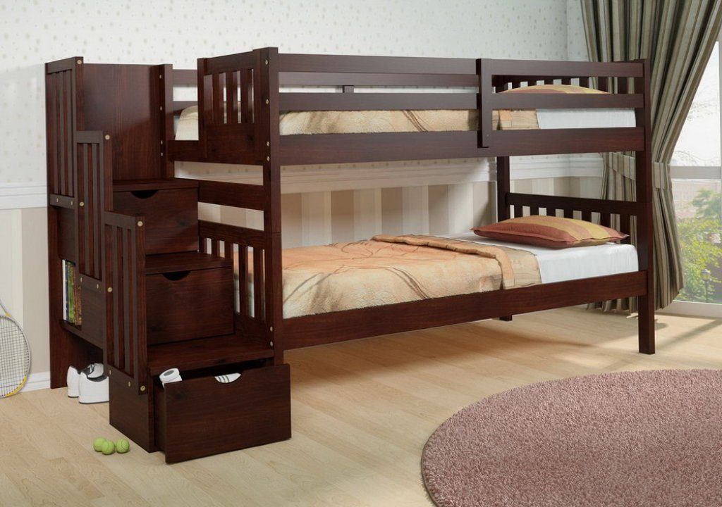 Image of: Bunk Bed Cots Building Plans