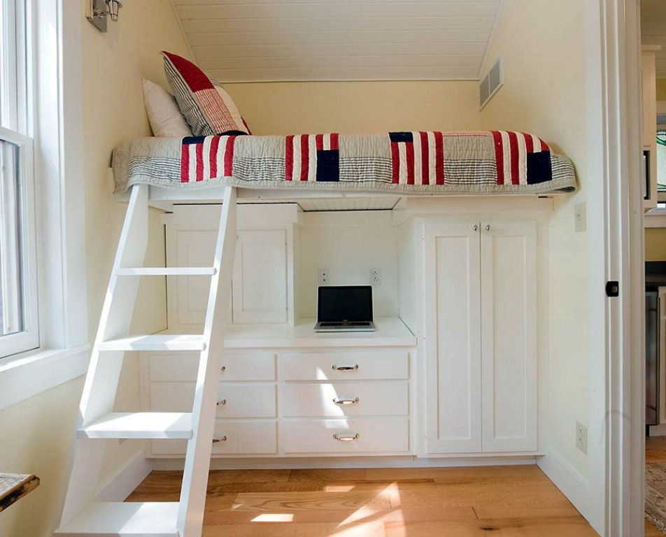 Image of: Bunk Bed Cots Desk