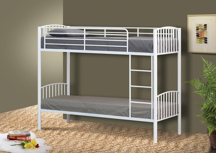 Image of: Bunk Bed Frames White