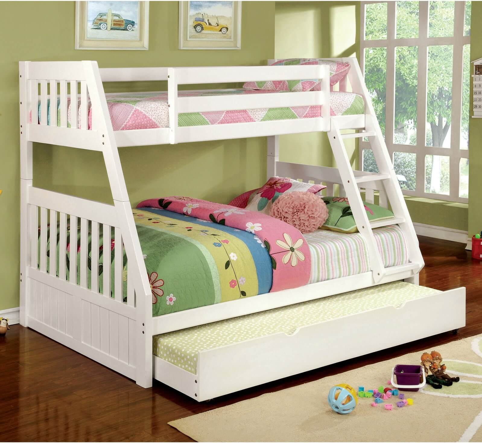 Bunk Bed Trundle White