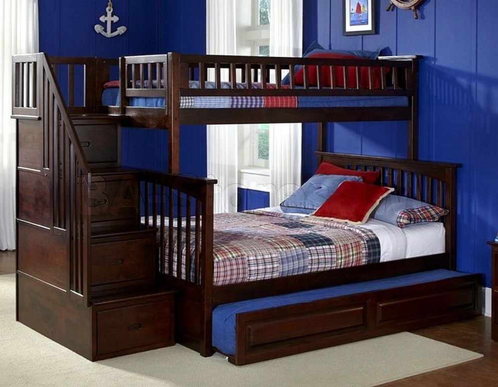 Bunk Bed Trundle Wood