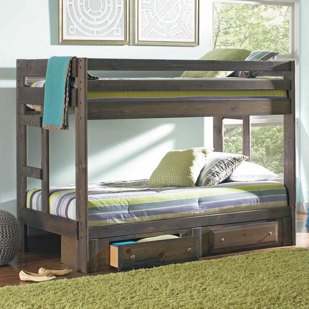 Bunk Beds Twin Over Twin Drawers