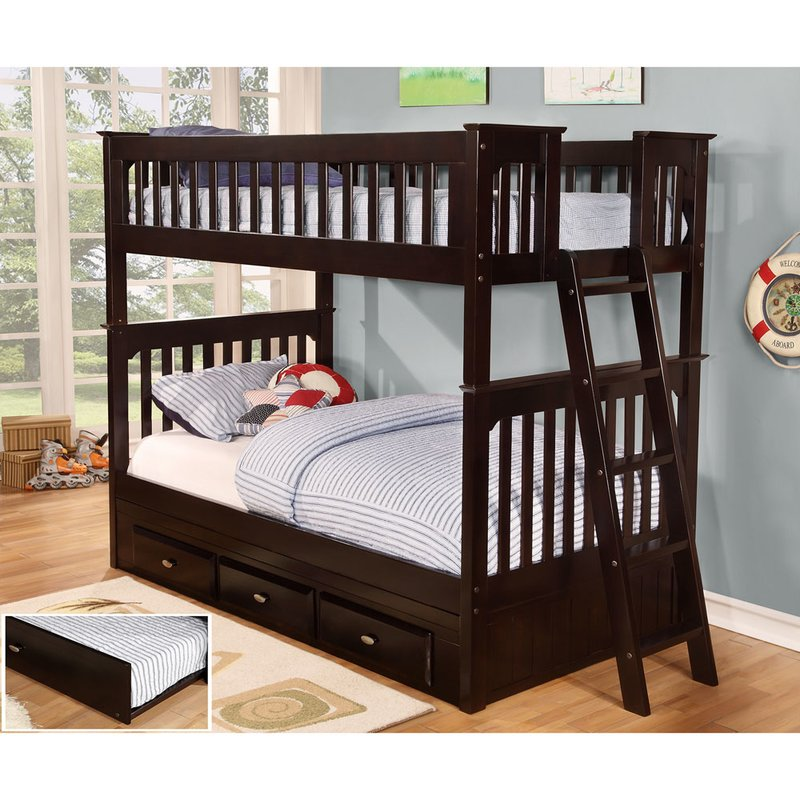 Bunk Beds Twin Over Twin Ladder