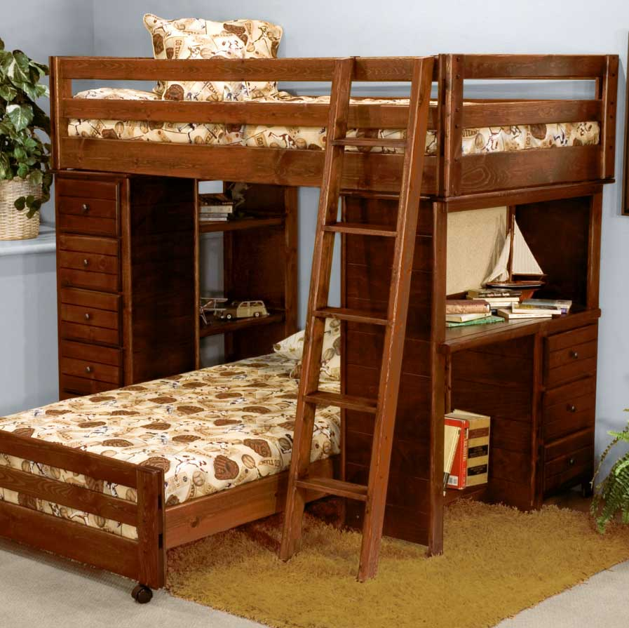 Bunk Beds With Stairs And Desk Popular
