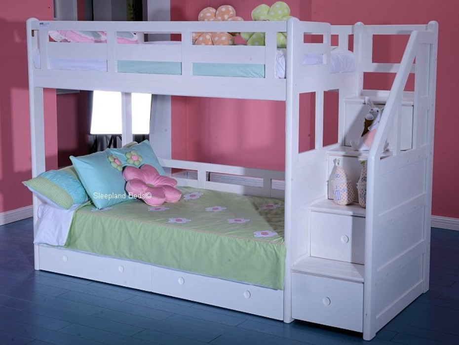 Bunk Beds For Girls With Stairs Decor