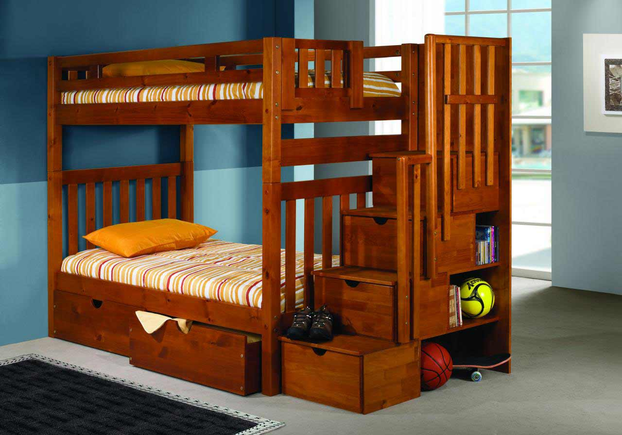 Bunk Beds With Steps DIY
