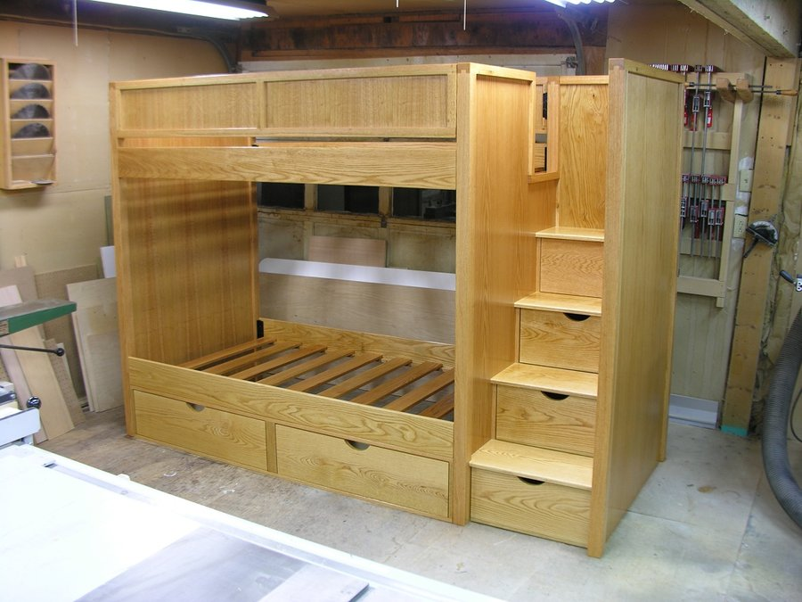 Bunk Beds With Steps Oak