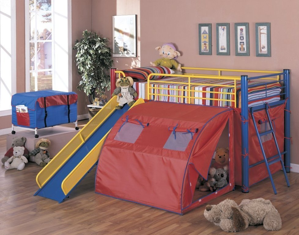 Image of: Buy Kids Bunk Bed With Slide