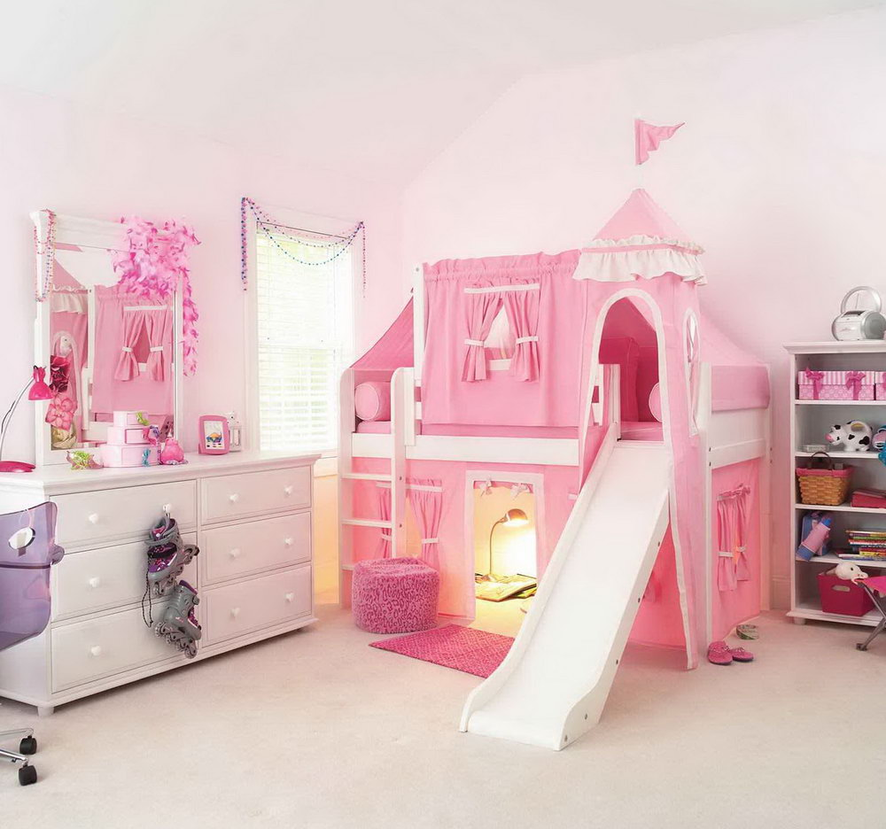 Image of: Cute Princess Bunk Bed Ideas
