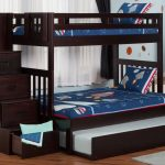 Cute Twin Over Full Bunk Bed with Trundle