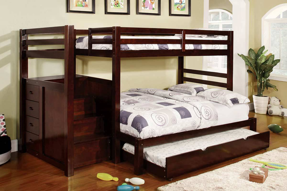 Dark Cherry Bunk Beds
