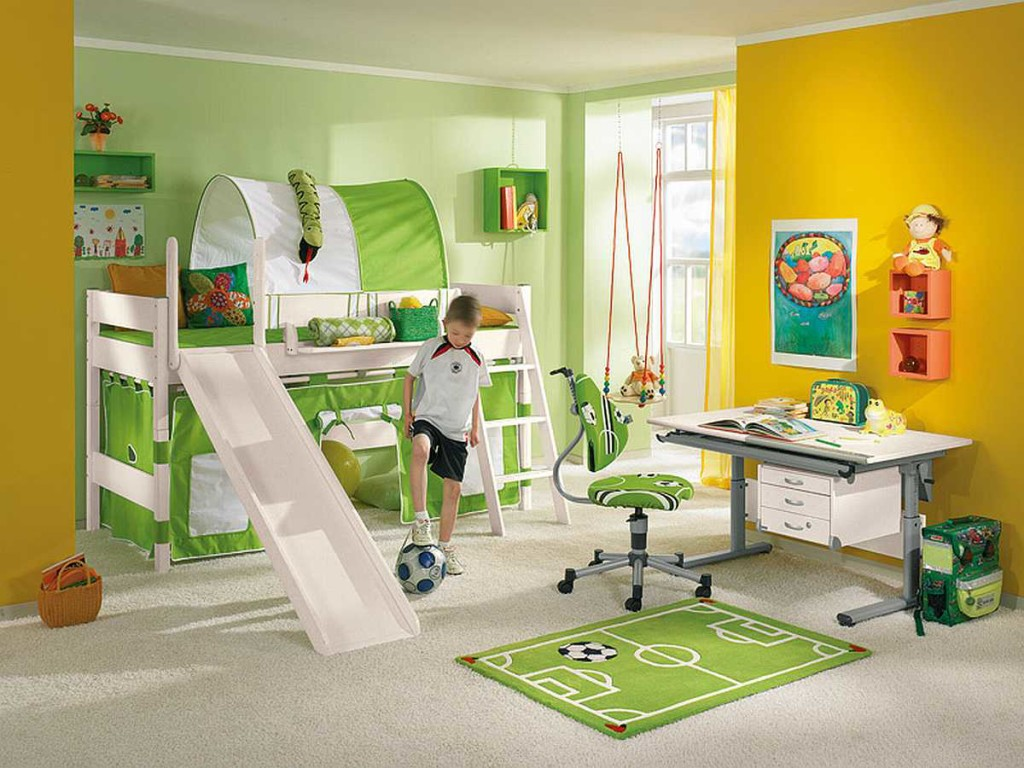 Double Bunk Bed with Slide
