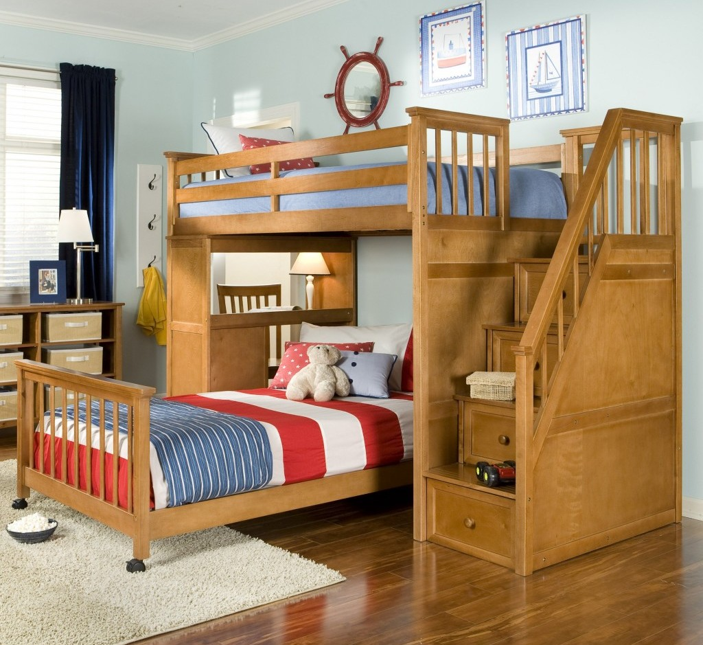 Image of: Durango Bunk Bed With Stairs
