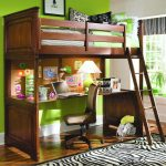 Full Bunk Bed with Desk for Adult