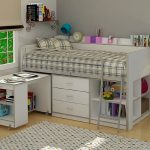 Full Size Bunk Bed with Desk and Stairs Drawer