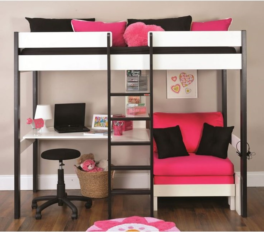 Girls Bunk Beds With Couch