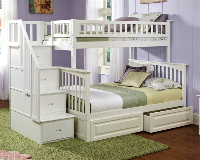 Good Twin over Full Bunk Bed with Stairs