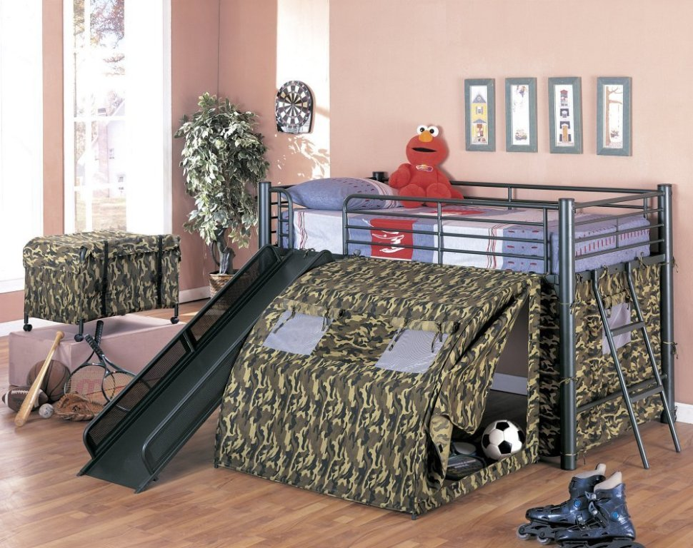 Image of: Kids Bunk Bed With Slide And Stairs