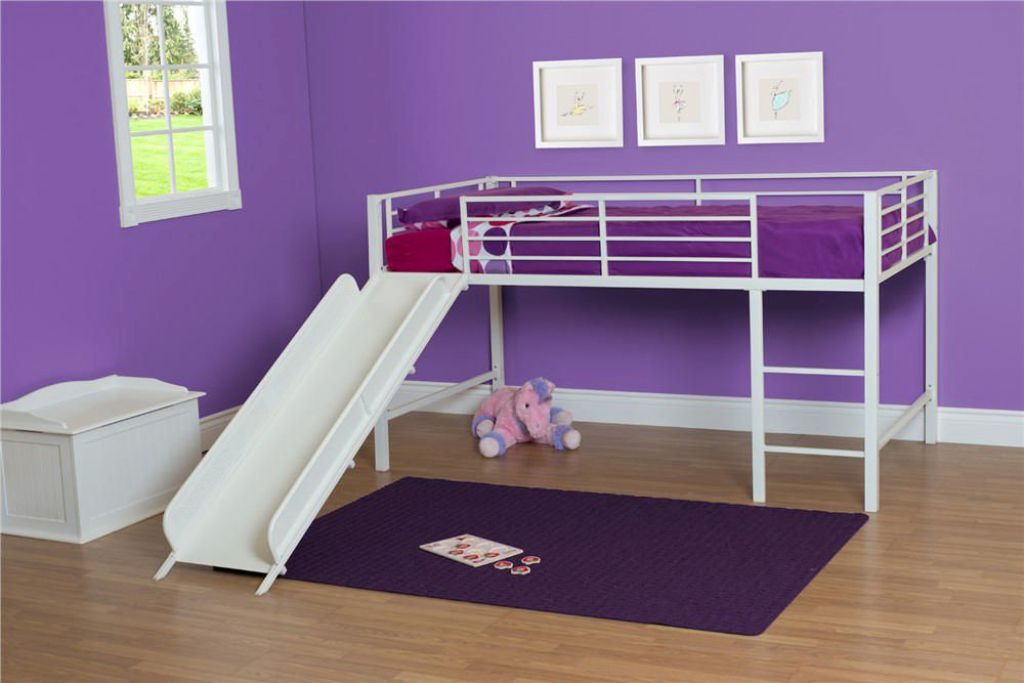 Image of: Kids Bunk Bed With Slide And Swing