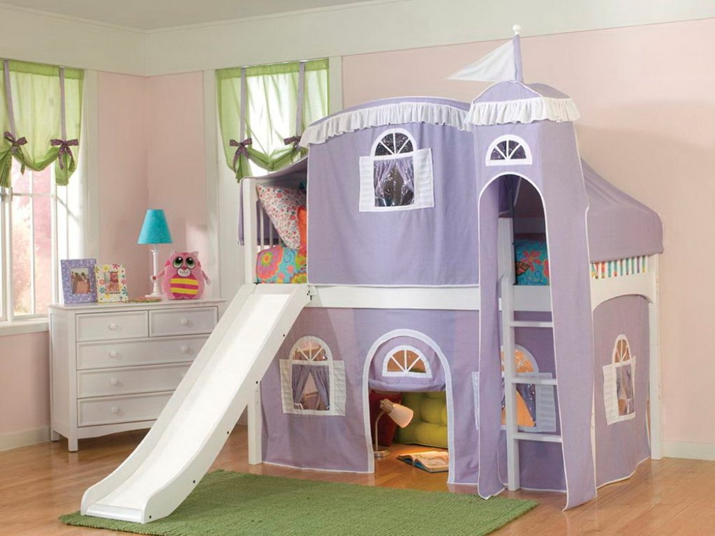 Image of: Kids Bunk Beds With Slide