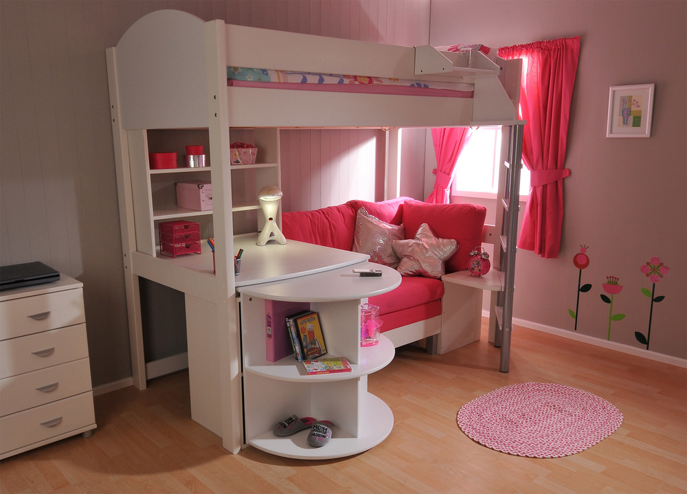 Image of: Kids Bunk Beds With Desk Cool