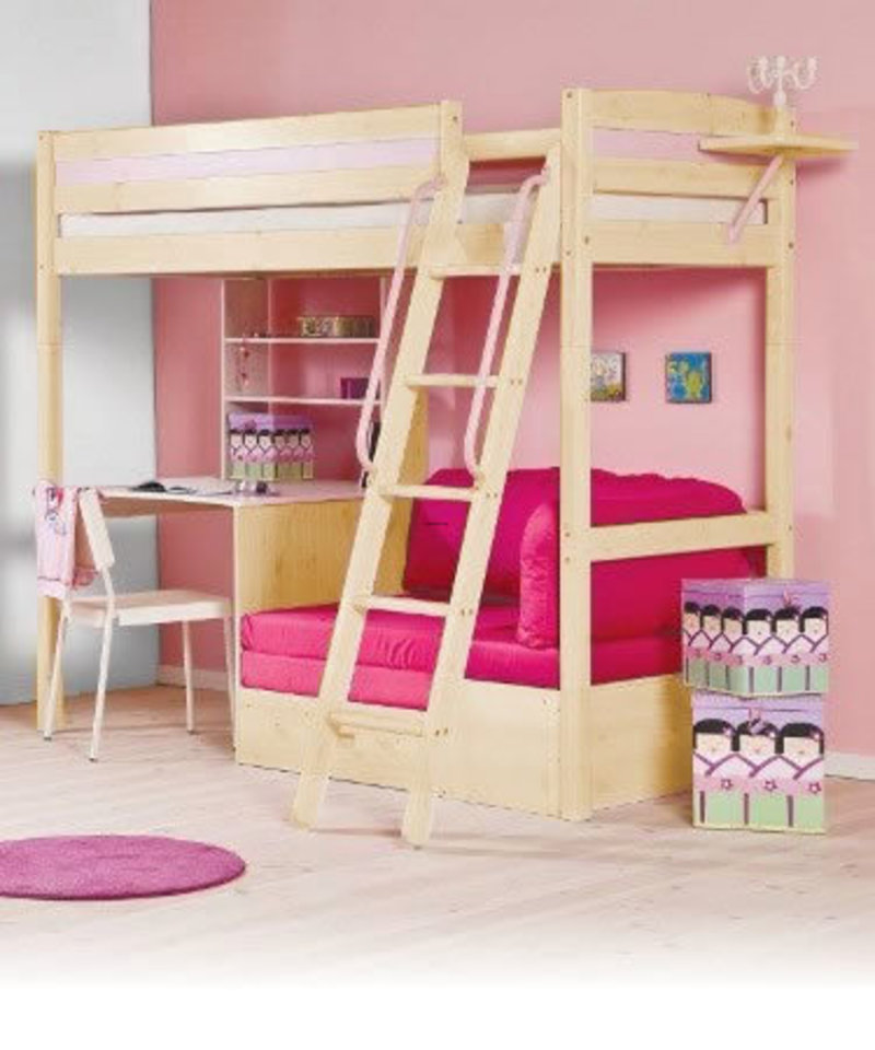Image of: Kids Bunk Beds With Desk Girl