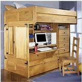 Image of: Kids Bunk Beds With Desk Mahogany