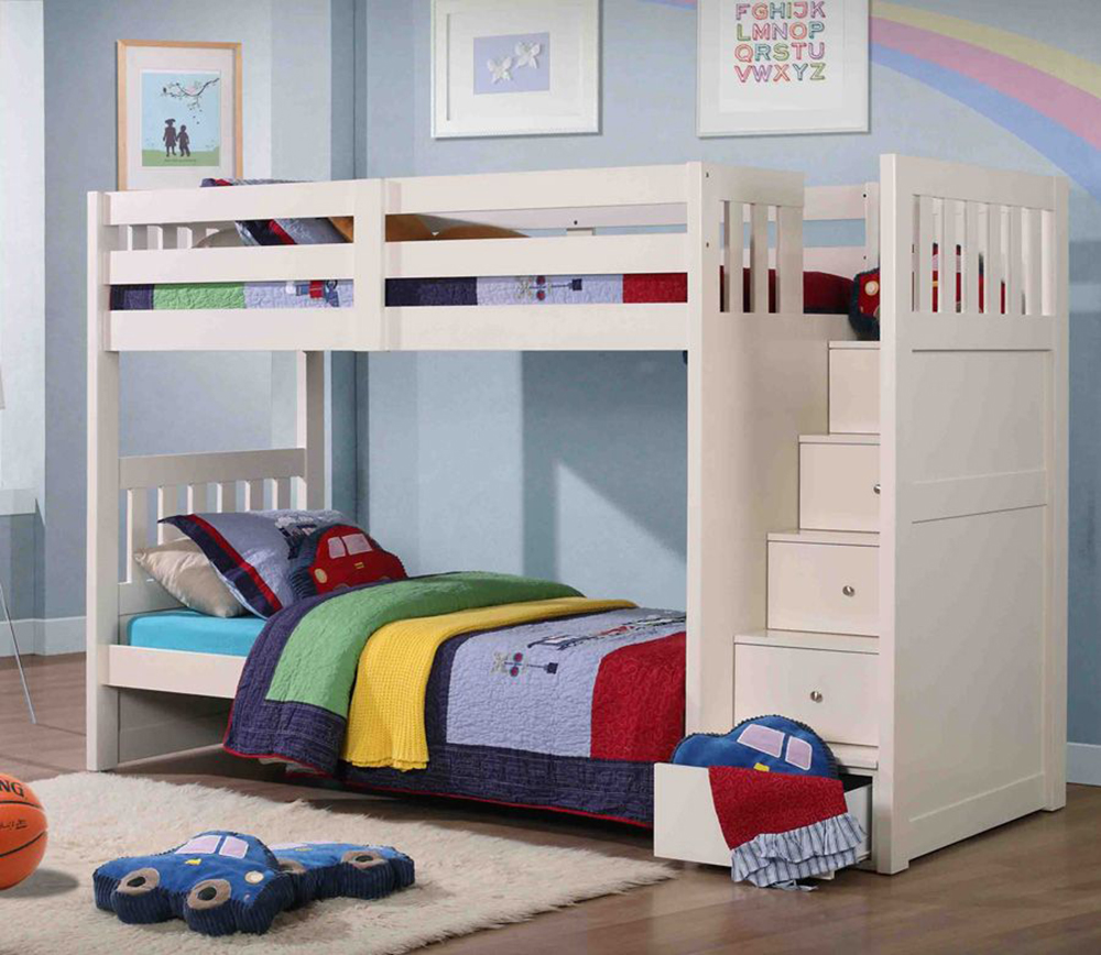 Image of: Kids Bunk Beds With Desk Plan