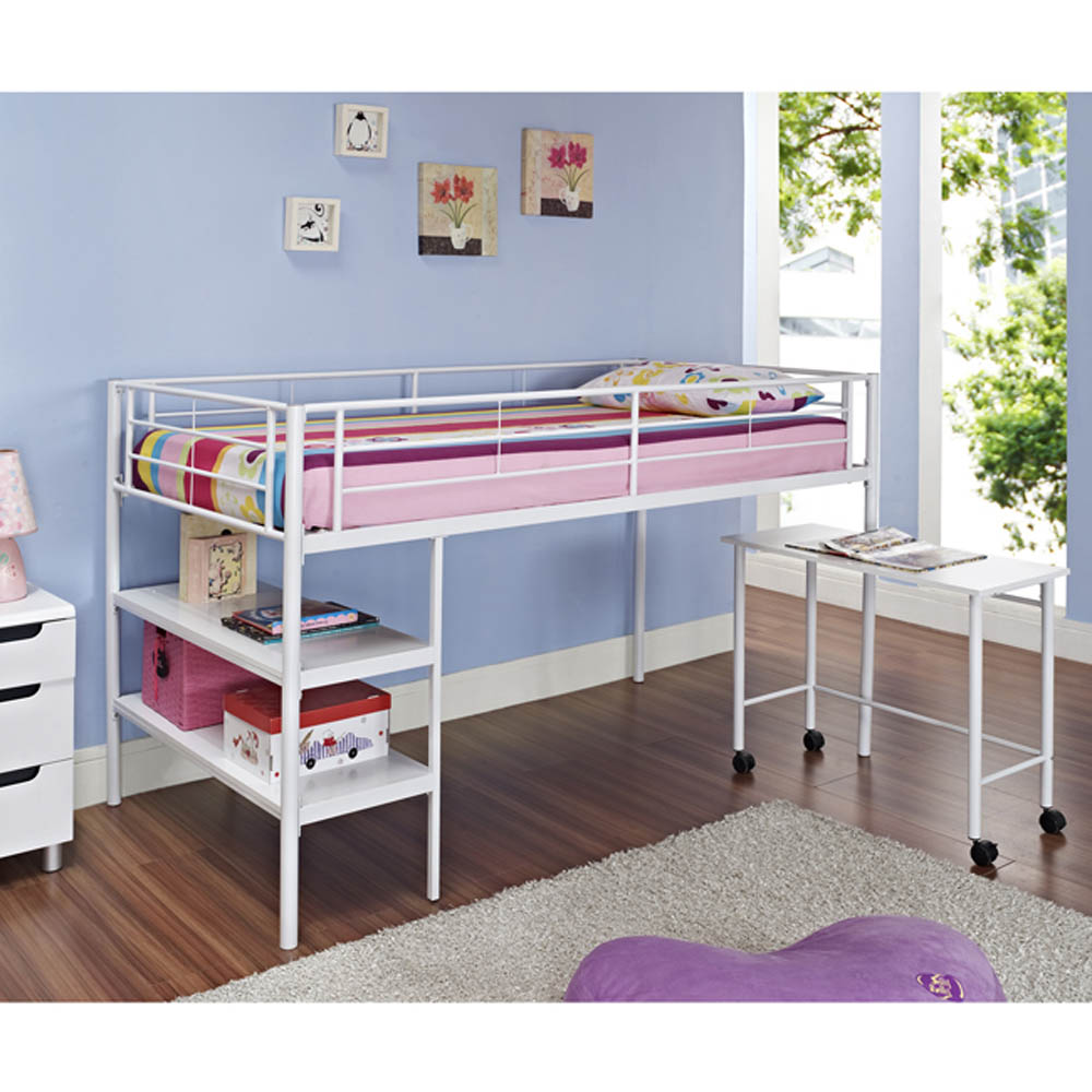 Image of: Kids Bunk Beds With Desk White