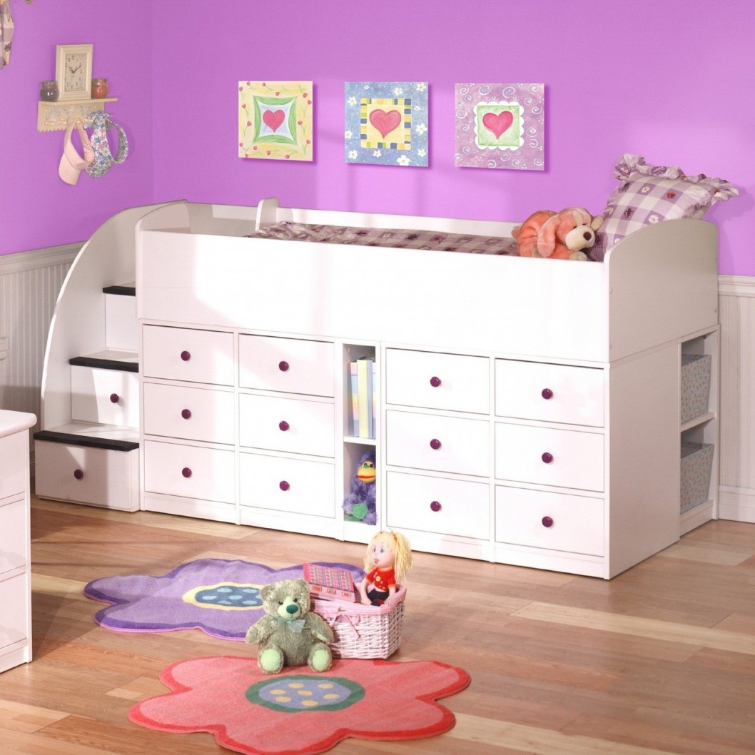 Low Bunk Beds for Kids White