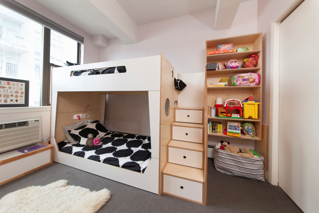 Low Ceiling Bunk Beds with Storage
