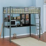 Metal Full Size Bunk Bed with Desk