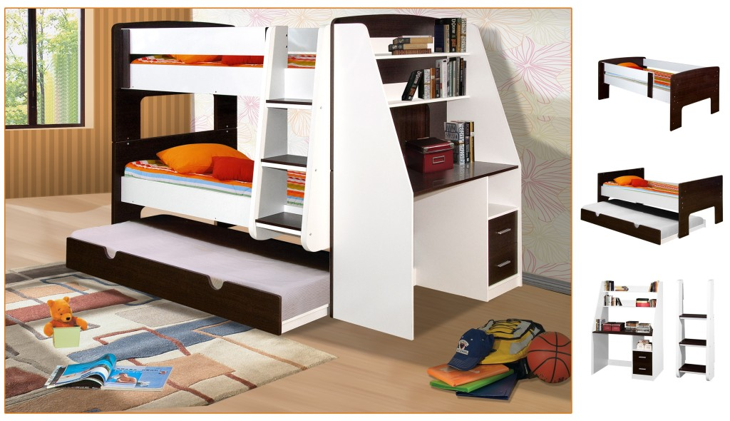 Modern Bunk Bed Trundle