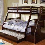 New Twin over Full Bunk Bed with Stairs