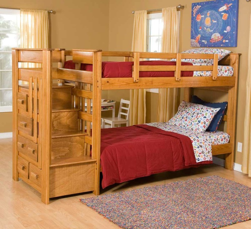 Over Bunk Beds With Steps