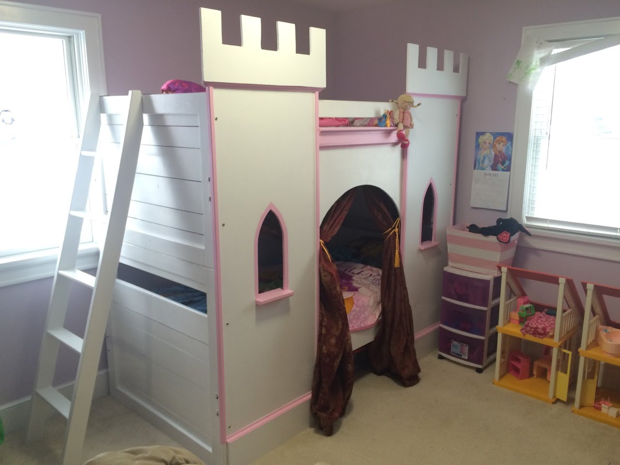 Image of: Princess Bunk Bed Design