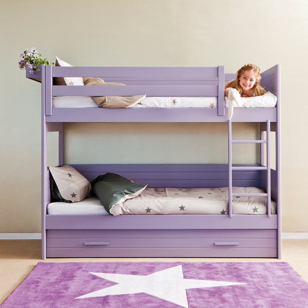 Purple Bunk Bed Trundle