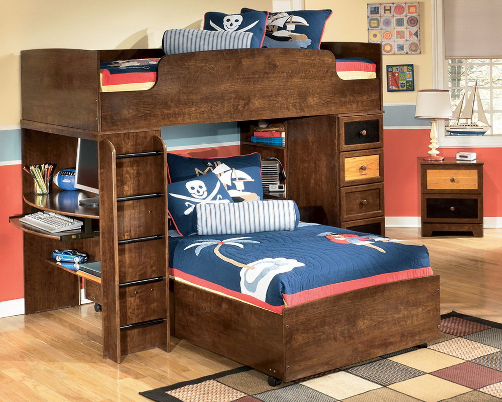 Queen Size Bunk Beds With Stair