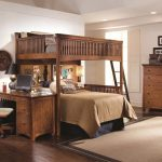Rustic Bunk Beds with Desk