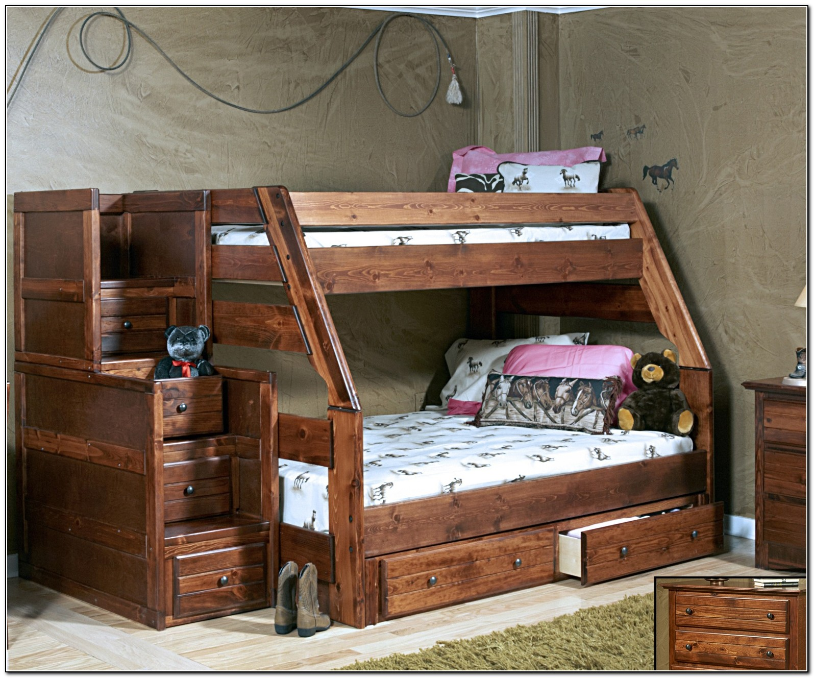 Solid Wood Full Over Full Bunk Bed Plans