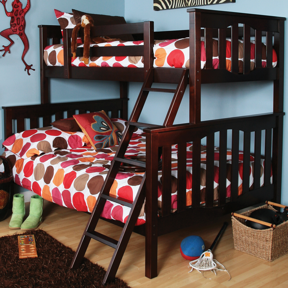 Style Wood Bunk Beds Twin Over Full