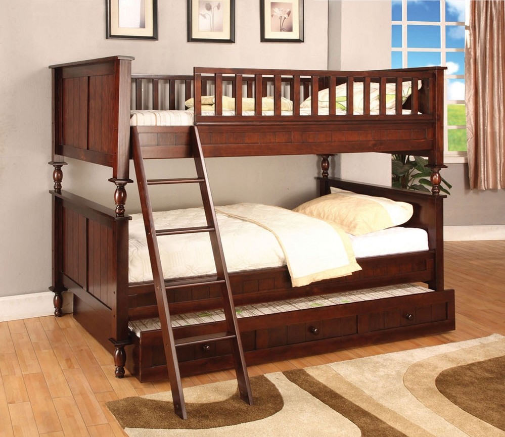 Stylish Cherry Bunk Beds