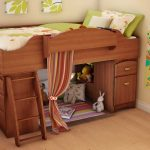 Stylish Wooden Bunk Beds with Storage