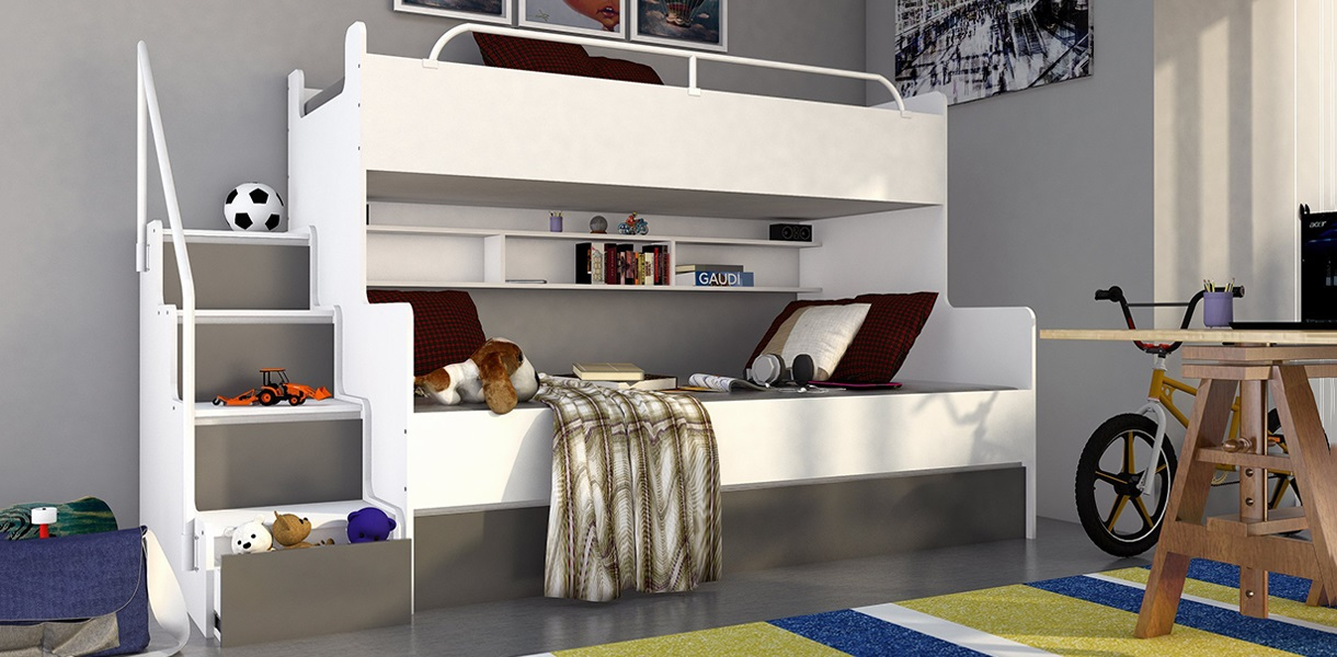 Three Tier Bunk Bed Picture