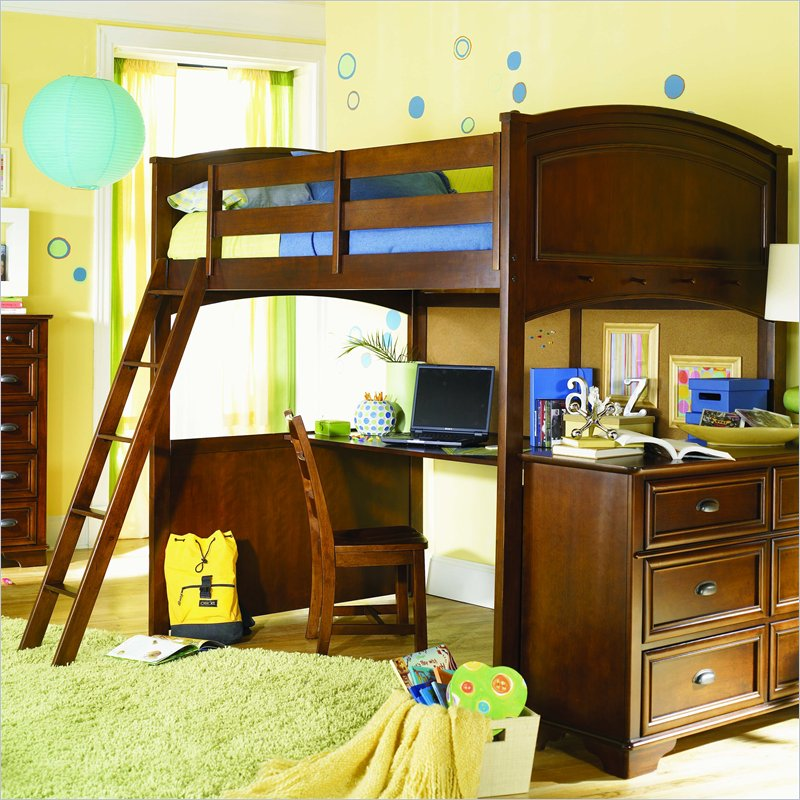 Top Style Bunk Bed With Desk Underneath