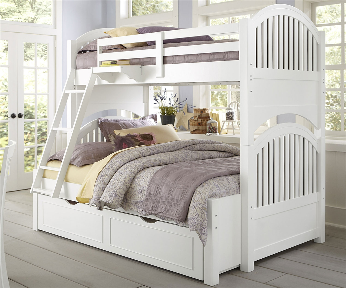 Twin Full over Full Bunk Beds White