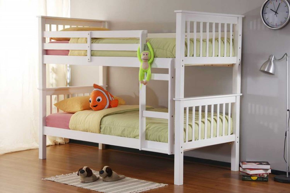 Image of: White Durango Bunk Bed