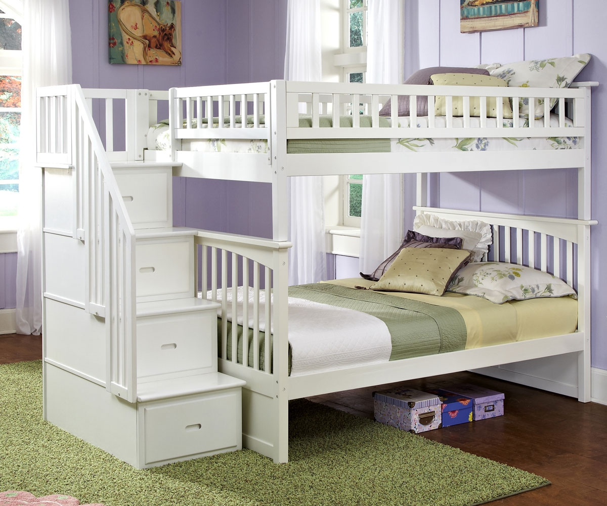 White Full Size Bunk Beds